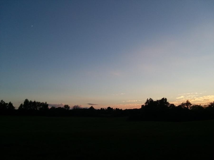 big sky with moon sept 14